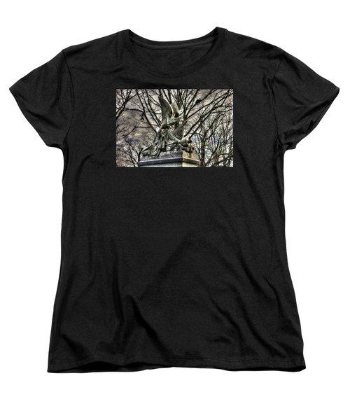 Women's T-Shirt (Standard Cut) featuring the photograph War Eagles - 88th Pa Volunteer Infantry Cameron Light Guard-d1 Oak Hill Autumn Gettysburg by Michael Mazaika