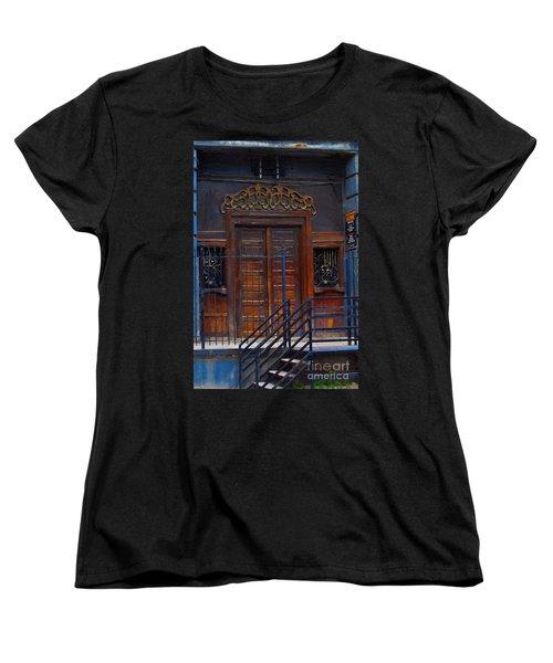 Warning Do Not Enter - Oil Painting Women's T-Shirt (Standard Cut) by Liane Wright
