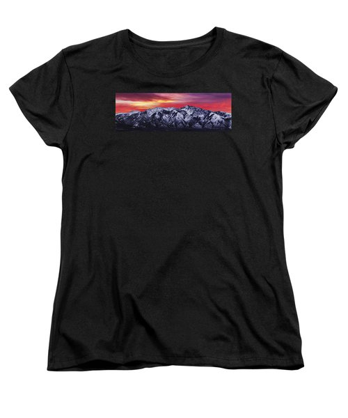 Wasatch Sunrise 3x1 Women's T-Shirt (Standard Cut) by Chad Dutson