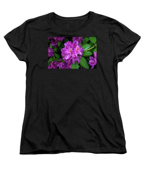 Washington Coastal Rhododendron Women's T-Shirt (Standard Cut) by Ed  Riche