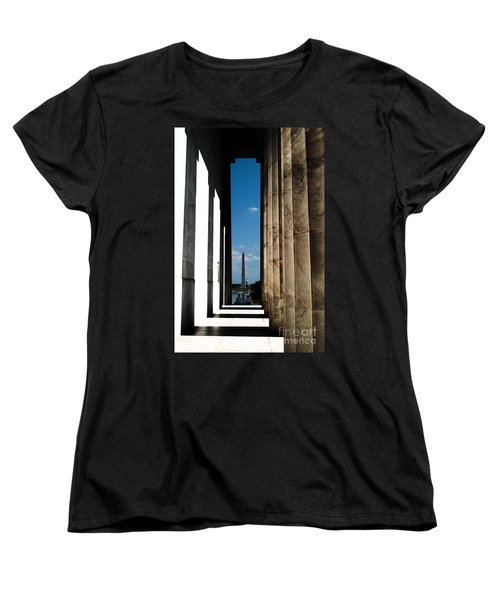 Washington Monument Color Women's T-Shirt (Standard Cut) by Angela DeFrias