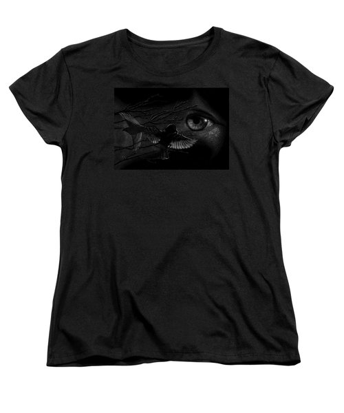 Watching Over Sparrows Women's T-Shirt (Standard Cut) by Sandra LaFaut