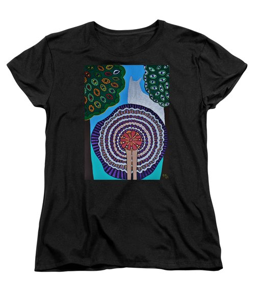 Women's T-Shirt (Standard Cut) featuring the painting Watching The Show by Barbara St Jean