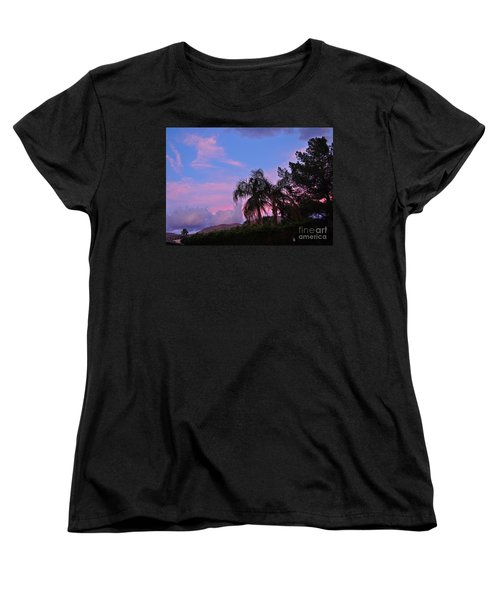 Water Colored Sky Women's T-Shirt (Standard Cut) by Jay Milo