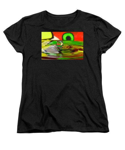 Women's T-Shirt (Standard Cut) featuring the photograph Water Drop by Peter Lakomy