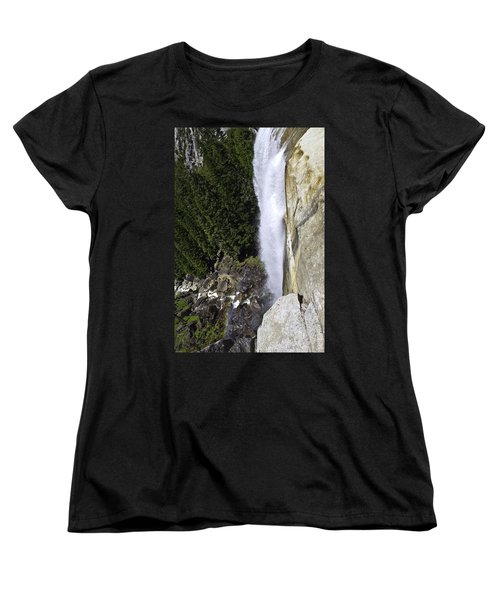 Women's T-Shirt (Standard Cut) featuring the photograph Water Fall by Brian Williamson