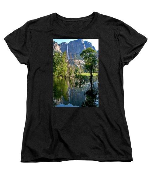Water Fall Women's T-Shirt (Standard Cut) by Menachem Ganon