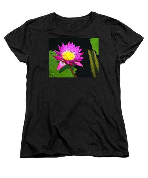 Women's T-Shirt (Standard Cut) featuring the photograph Water Flower 10089 by Marty Koch