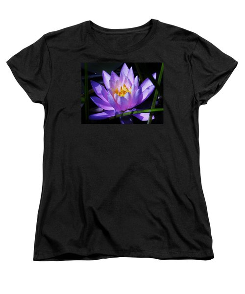 Water Lily Blues Women's T-Shirt (Standard Cut) by Sherman Perry