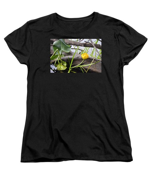Women's T-Shirt (Standard Cut) featuring the photograph Water Lily by Cathy Mahnke