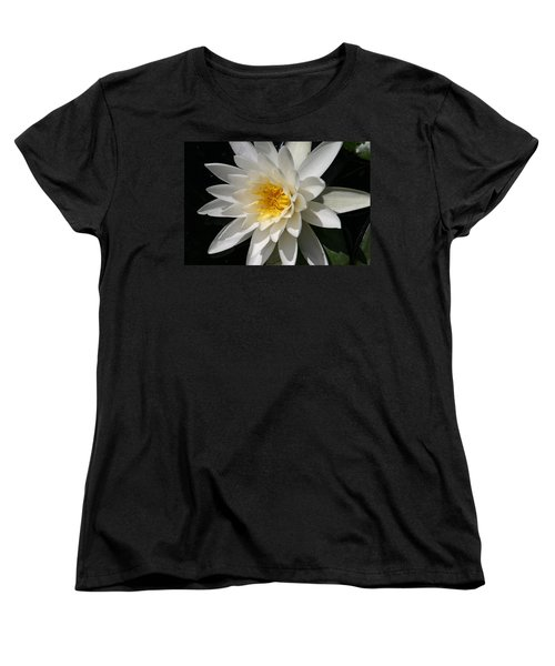 Water Lily  Women's T-Shirt (Standard Cut) by Denyse Duhaime