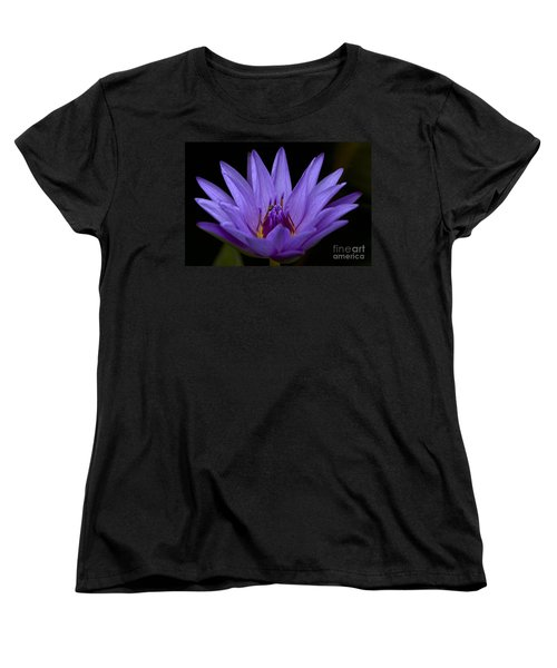 Women's T-Shirt (Standard Cut) featuring the photograph Water Lily Photo by Meg Rousher