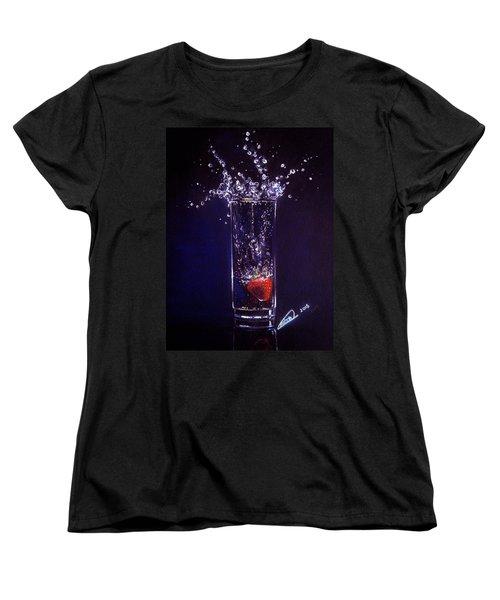 Water Splash Reflection Women's T-Shirt (Standard Cut) by Alban Dizdari