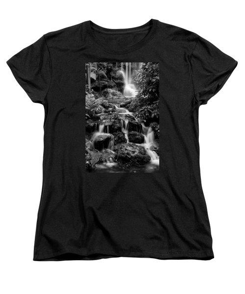 Waterfall At Rainbow Springs Women's T-Shirt (Standard Cut) by Beverly Stapleton