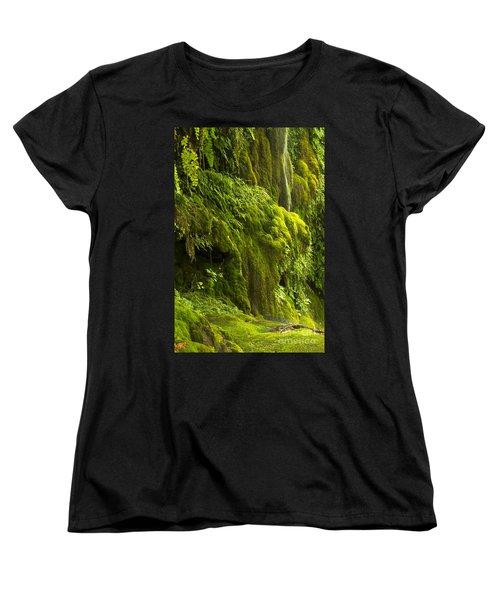 Women's T-Shirt (Standard Cut) featuring the photograph Waterfall In Green by Bryan Keil