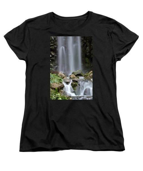 Women's T-Shirt (Standard Cut) featuring the photograph Waterfall In Singapore by Shoal Hollingsworth