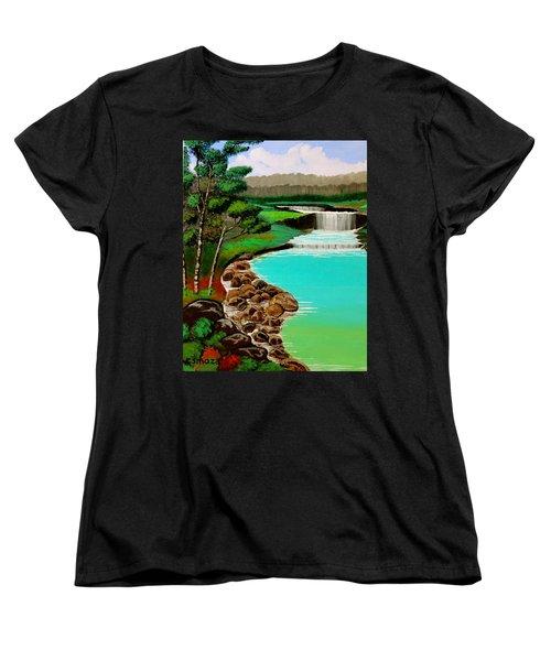 Waterfalls Women's T-Shirt (Standard Cut) by Cyril Maza