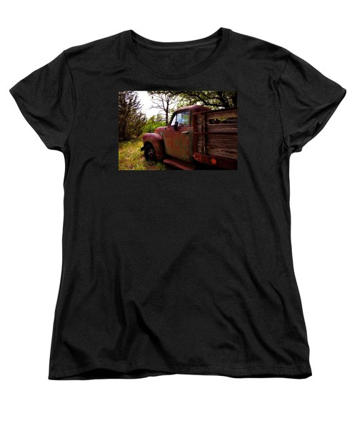 Watermelon Truck Women's T-Shirt (Standard Cut) by Toni Hopper