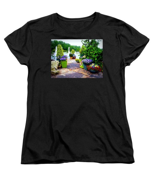Waterway Path Women's T-Shirt (Standard Cut) by Pamela Hyde Wilson
