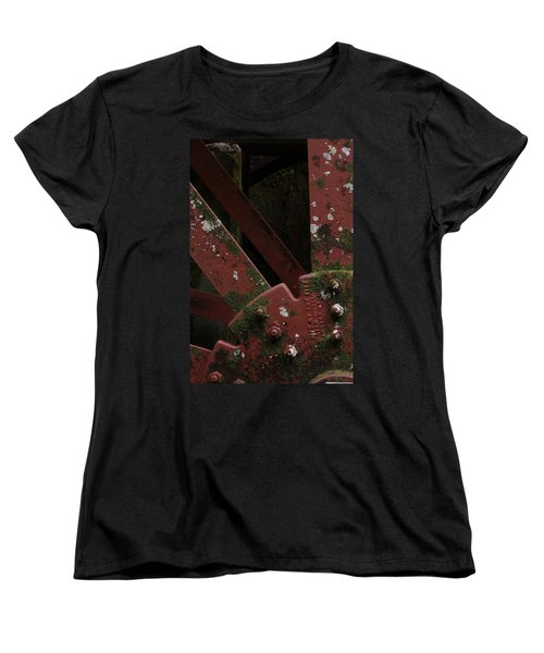 Women's T-Shirt (Standard Cut) featuring the photograph Waterwheel Up Close by Daniel Reed