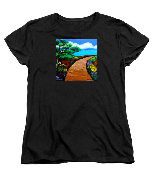 Way To The Sea Women's T-Shirt (Standard Cut) by Cyril Maza
