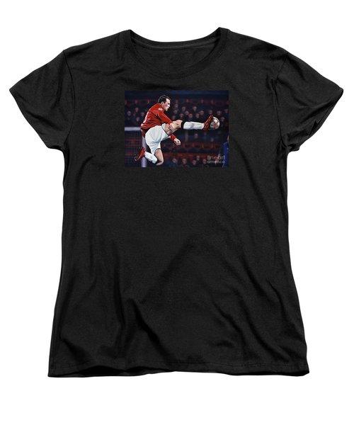 Wayne Rooney Women's T-Shirt (Standard Cut) by Paul Meijering