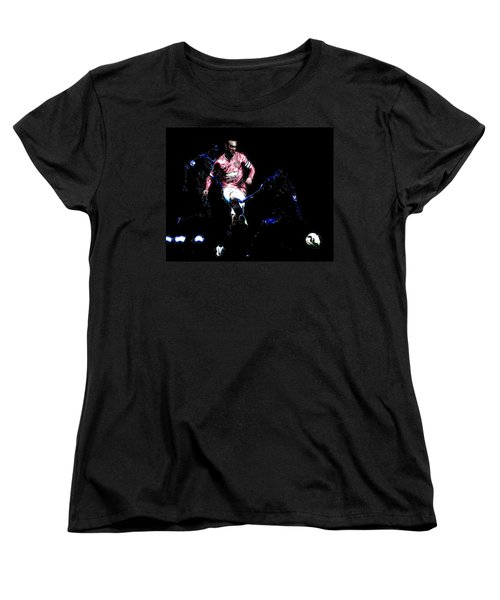 Wayne Rooney Working Magic Women's T-Shirt (Standard Cut) by Brian Reaves