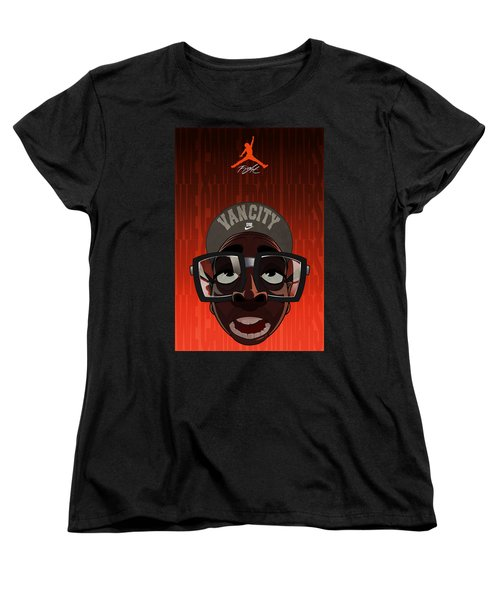 Women's T-Shirt (Standard Cut) featuring the drawing We Came From Mars by Nelson Dedos  Garcia