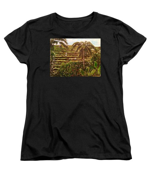 Women's T-Shirt (Standard Cut) featuring the painting We Work Hard For The Money by Belinda Low