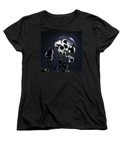 Weed Silhouette Women's T-Shirt (Standard Cut) by Mike Santis