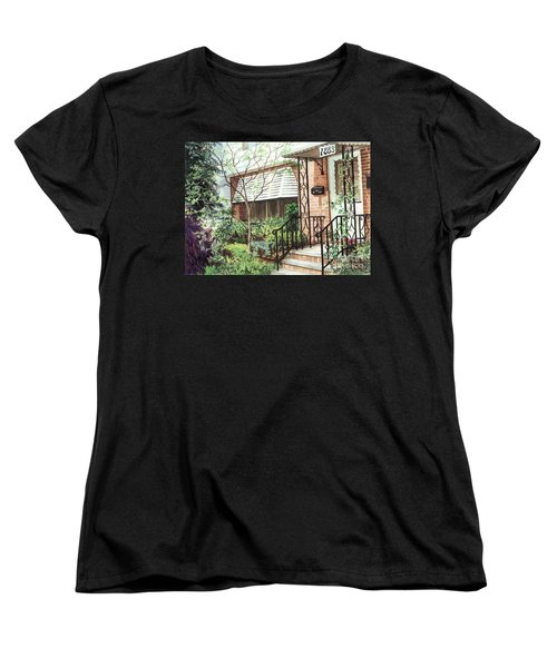 Women's T-Shirt (Standard Cut) featuring the painting Welcome Home by Barbara Jewell