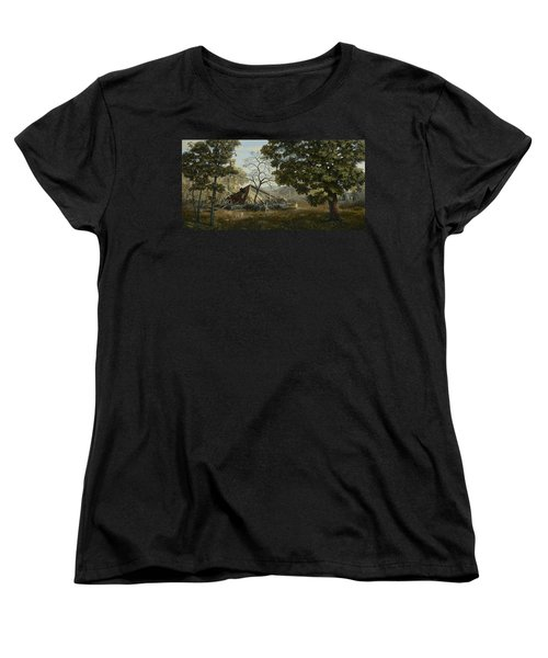 Welcome Home Women's T-Shirt (Standard Cut) by Duane R Probus