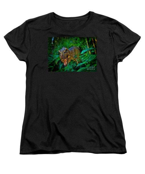 Welcome To My Park Tyrannosaurus Rex Women's T-Shirt (Standard Cut) by Olga Hamilton
