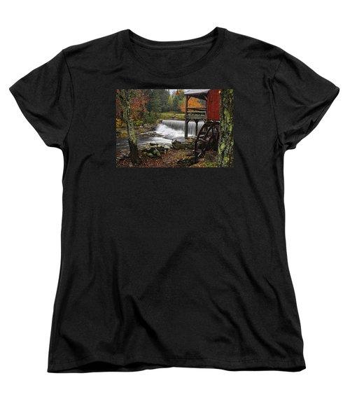 Weston Grist Mill Women's T-Shirt (Standard Cut) by Priscilla Burgers