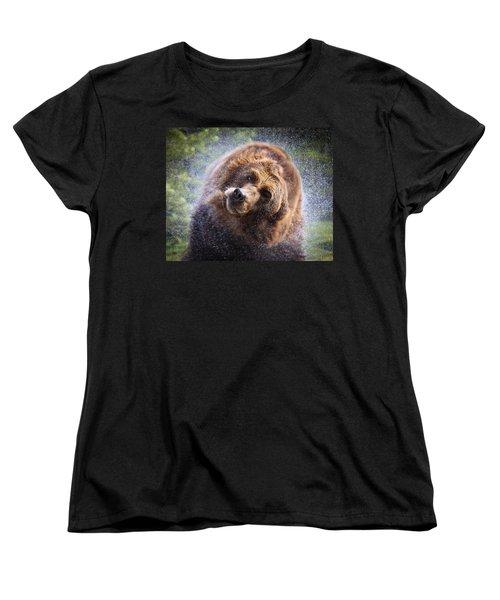 Wet Griz Women's T-Shirt (Standard Cut) by Steve McKinzie