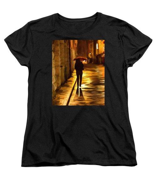 Wet Rainy Night Women's T-Shirt (Standard Cut) by Michael Pickett