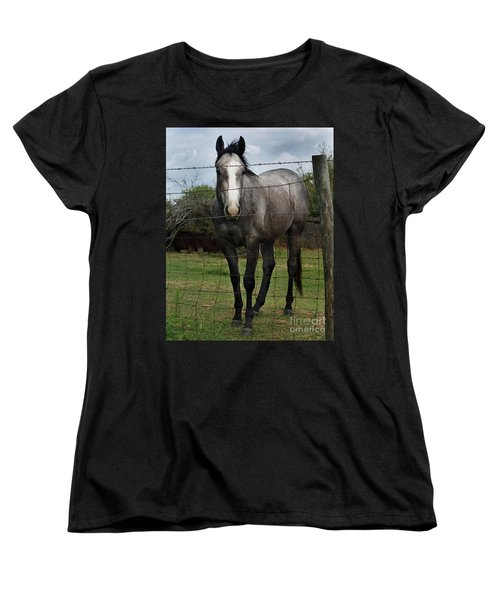 Women's T-Shirt (Standard Cut) featuring the photograph What Are You Afraid Of by Peter Piatt