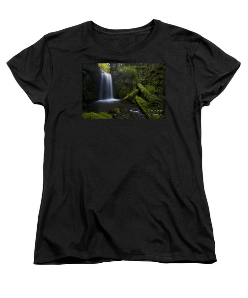 Whatcom Falls Serenity Women's T-Shirt (Standard Cut) by Mike Reid