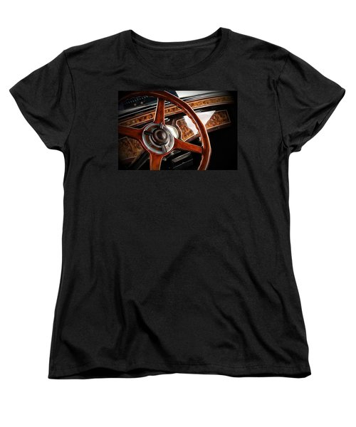 Vintage Car Women's T-Shirt (Standard Cut) featuring the photograph Wheel To The Past by Aaron Berg