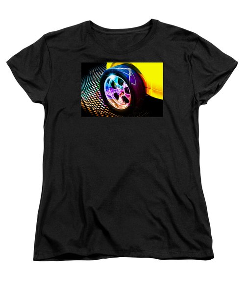 Vintage Car Women's T-Shirt (Standard Cut) featuring the photograph Wheeled by Aaron Berg