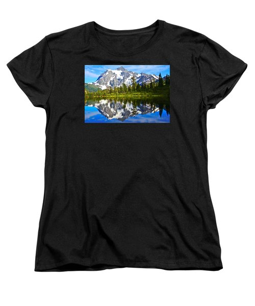 Women's T-Shirt (Standard Cut) featuring the photograph Where Is Up And Where Is Down by Eti Reid