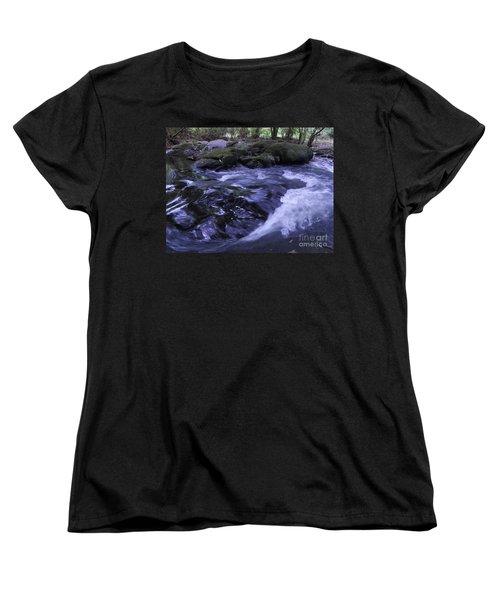 Whirls Women's T-Shirt (Standard Cut) by Mini Arora