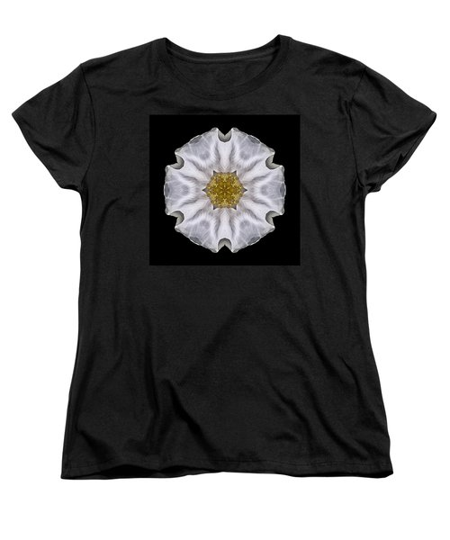 White Beach Rose I Flower Mandala Women's T-Shirt (Standard Cut) by David J Bookbinder