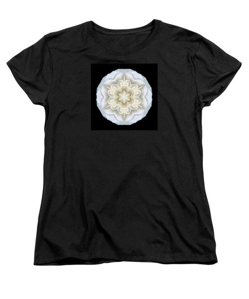 White Begonia II Flower Mandala Women's T-Shirt (Standard Cut) by David J Bookbinder
