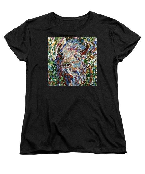 White Buffalo Women's T-Shirt (Standard Cut) by Erika Pochybova