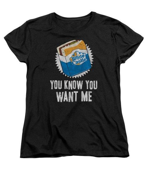 White Castle - Want Me Women's T-Shirt (Standard Cut) by Brand A