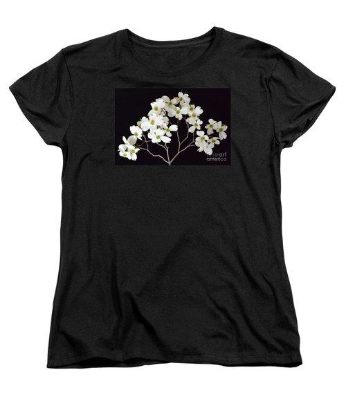 Women's T-Shirt (Standard Cut) featuring the photograph White Dogwood Branch by Jeannie Rhode
