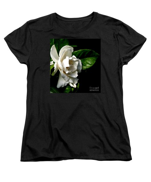 White Gardenia Women's T-Shirt (Standard Cut) by Rose Santuci-Sofranko