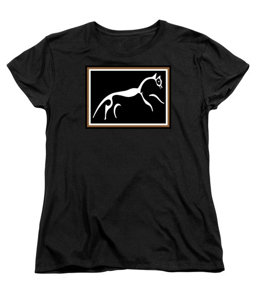 Women's T-Shirt (Standard Cut) featuring the digital art White Horse Of Uffington by Vagabond Folk Art - Virginia Vivier