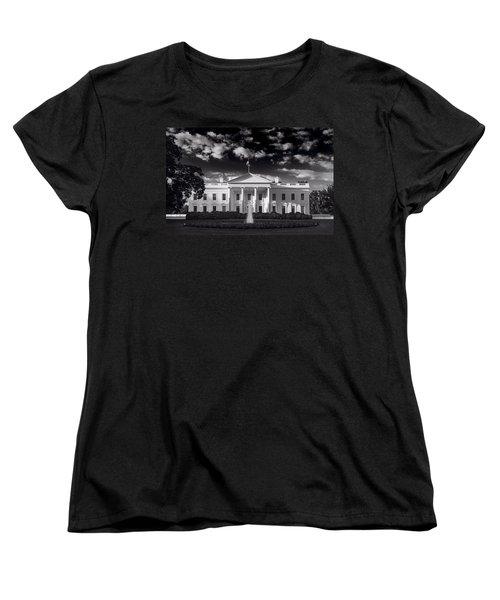 White House Sunrise B W Women's T-Shirt (Standard Cut) by Steve Gadomski